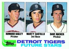 Howard Bailey, Marty Castillo and Dave Rucker Future Stars Card 1982 - Detroit Tigers  Card Number: 261