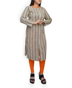 Handblock Printed Front Open Kurta Pakistani Suits, Dresses With Sleeves, Printed, Long Sleeve, Pants, Things To Sell, Women, Fashion, Moda