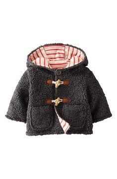 Mini Boden Fleece Duffle Jacket (Baby Boys) | Nordstrom