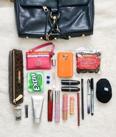 Let's look at the junk in my purse! In prep for traveling today I desperately needed a purse cleanou What's In My Purse, Whats In Your Purse, What In My Bag, What's In Your Bag, Inside My Bag, Purse Essentials, Purse Organization, You Bag, Purse Wallet