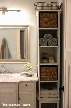 Bathroom Linen Cabinets: #Linen (Linen Storage Ideas) linen closet linen cabinet towel storage ideas #Towel #Storage
