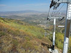 Gah going down ~ Riding on the smaller chair lift at Park City Mountain Resort September 2015