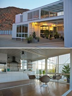 Container home. This is located in the Mojave desert. Just amazing.
