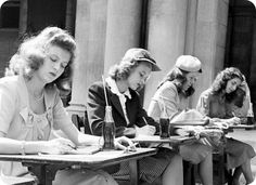 A beautiful photo set of 1940s college or university girl's fashions from the LIFE Archive