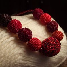 Beadwork necklace collection of beaded beads in