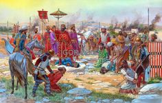 Persian king Darius I accepts the submission of the Elamites of 519 BC