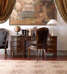 Reproduction walnut Italian Desk