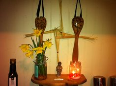 Kitchen witch Bridhe, Hestia, & all mother altar. Fire hearth imbolc Bridgette spring