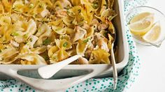 Currently Craving: Creamy Lemon Chicken Pasta Bake