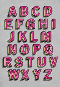 Type Experiments by Alex Fowkes, via Behance