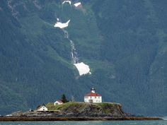 Vacationers on Inside Passage cruises in Alaska have the best chance of seeing the Eldred Rock lighthouse in the Lynn Canal, a natural fjord near Skagway.