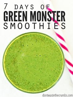 7 Days of Green Monster Smoothies. Try a new recipe each day of the week!