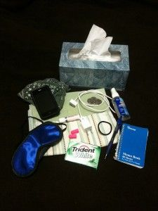 Hospital survival kit - great to bring to friends who are sitting with a loved one. All good idea - trust me, I know.
