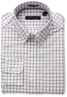 Tommy Hilfiger Mens Non Iron Regular Fit Multi Check BD Collar Dress Shirt  #shirts #dress #mensshirt #clothing #fashion #formalshirt