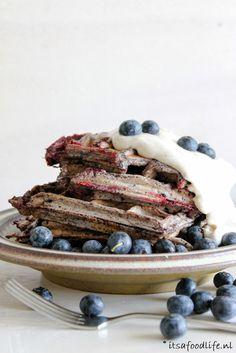 Recept voor blauwe bessen wafels met 5 ingrediënten | It's a Food Life