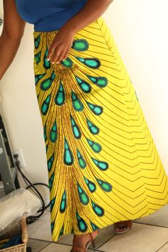 African Peacock long skirt/ plus size / by Khokhodesigns on Etsy, $80.00