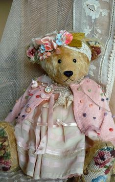 "Every little girl needs a special ""teddy"" to have tea parties with her and her dolls!!!!!"