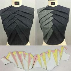 Sewing Techniques Advanced Técnica origami Glorious Sewing Basic Tips Ideas. All Time Best Sewing Basic Tips Ideas. Fashion Sewing, Diy Fashion, Ideias Fashion, Fashion Ideas, Dress Sewing Patterns, Clothing Patterns, Pattern Sewing, Sewing Ideas, Sewing Tips