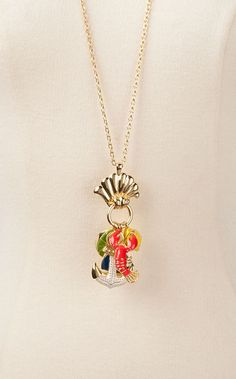 lilly pulitzer necklace with anchor!!!