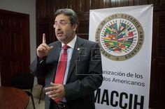 HONDURAS OEA Funcionarios de Honduras concluyen una reunión con Misión OEA contra la corrupción. El vocero de la Misión de Apoyo Contra la Corrupción e Impunidad en Honduras (MACCIH) de la Organización de Estados Americanos, el peruano Juan Jiménez. EFE/Archivo