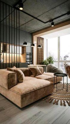 Apartment Interior, Apartment Design, Interior Design Living Room, Rugs In Living Room, Home And Living, Living Room Designs, Living Room Decor, Room Rugs, Interior Livingroom