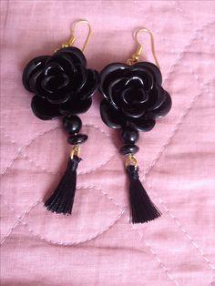 Set with Black Rose Bracelet