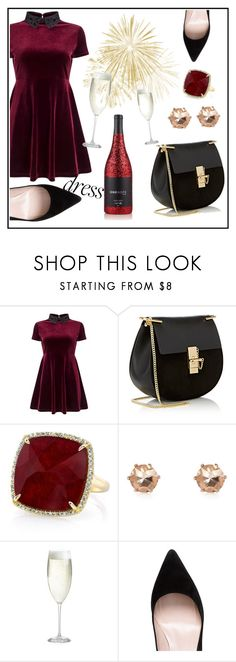 """""""Happy New year"""" by natalia-isikova ❤ liked on Polyvore featuring Miss Selfridge, Chloé, Anne Sisteron, River Island, Crate and Barrel and Kate Spade"""