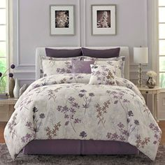 Such a feminine and relaxing bed collection love the mix of such a feminine and relaxing bed collection love the mix of lavender prints and ruffles home pinterest french lavender lavender and dena mightylinksfo