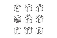 Buy Vector Gift Box Icons, Holiday Presents by In-Finity on GraphicRiver. Vector Gift Box Icons, Holiday Presents Box Icon, Icon Set, Icon Design, Logo Design, Graphic Design, Design Shop, Design Art, Gift Logo, Best Icons