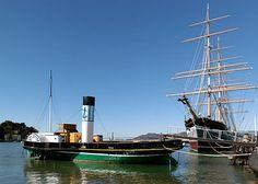 Eppleton Hall Paddlewheel Tugboat   Hyde Street Pier  / San Francisco Maritime National Historical Park, CA, US / Built 1914