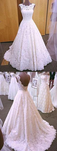 elegant lace wedding dresses 2018 modest wedding gowns with sleeves #laceweddingdresses #weddingdresses