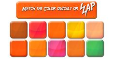 Think you can match all the colors and beat the clock? What are you waiting for? PLAY NOW! All The Colors, Different Colors, Color Quiz, Fun Quizzes, Matching Games, Pretty Good, Best Games, Online Games, New Movies