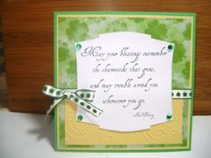 scrapped st patrick day cards | this is my first st patrick s day card i used mostly scrap paper the ...