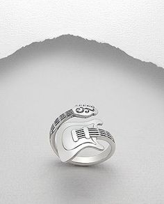 Sterling Silver Jewelry 925 Guitar Bass Wrap Around Ring 925 Sterling Silver Music Band Musician - Auralee Company - guitar ring sterling silver Music Jewelry, Jewelry Gifts, Fine Jewelry, Handmade Jewelry, Jewelry Making, Silver Rings Handmade, Craft Jewelry, Personalized Jewelry, Artisan Jewelry