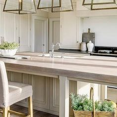 Weathered Oak Countertops, Transitional, kitchen, Andrew Ryan