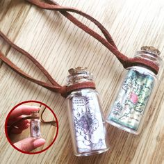 Map In A Bottle Necklace