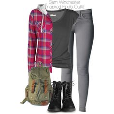 Supernatural - Sam Winchester Inspired Finals Outfit by staystronng on Polyvore featuring Lija, Nico, samwinchester and spn