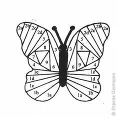 butterfly - iris fold template