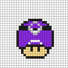 Evil Minion Mushroom Perler Bead Pattern