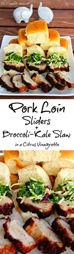 Pork Loin Sliders and Broccoli-Kale Slaw in a Creamy Citrus Vinaigrette ~ The Complete Savorist #SummerSizzling #weavemade #ad