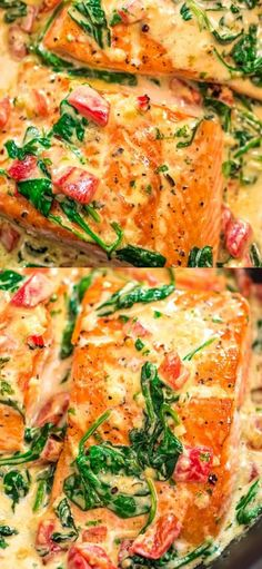 This Salmon in Roasted Pepper Sauce makes an absolutely scrumptious meal, worthy of a special occasion. Make this easy one-pan dinner in just 20 minutes! recipes for dinner tilapia Salmon in Roasted Pepper Sauce Easy Salmon Recipes, Fish Recipes, Salmon Recepies, Cooked Shrimp Recipes, Best Seafood Recipes, Honey Recipes, Steak Recipes, Cheese Recipes, Asian Recipes