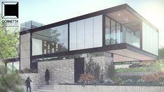 Fachada de uma de nossas casas parcialmente pré-fabricadas em estrutura metálica. #cornetta #cornettaarquitetura #estruturasmetalicas #lofts #loft