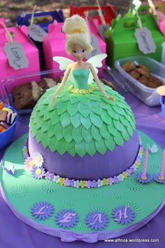Tinkerbell theme party cake