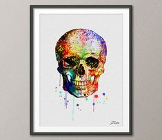 Hey, I found this really awesome Etsy listing at https://www.etsy.com/listing/219401610/skull-poster-skull-print-skull-painting