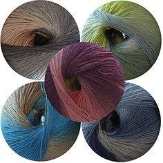 elann Pippi Longcolors Lite Yarn | 5 Ball Bag | 611 Color...