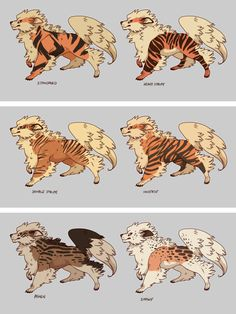 Arcanine Variations by CoryKatze