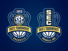 Mark(s) for the 2013 SEC Men's Tourney. Actually convinced them to use an alternate mark that was a little more 'Nashville' for certain applications.