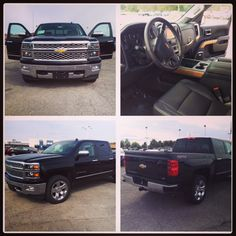 Brand new jet #black 2014 #Chevy #Silverado 1500 Crew Cab looking shiny and bright on our lot today. #Sale price of $45,695. Check it out online!  http://www.schmittchevrolet.com/VehicleDetails/new-2014-Chevrolet-Silverado_1500-Crew_Cab_Short_Box_4_Wheel_Drive_LTZ_w%2F1LZ-Wood_River-IL/2096622033