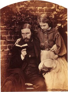 """""""George MacDonald with his daughter Lilia """"Lily"""" Scott MacDonald photographed by Lewis Carroll October Vintage Photos Women, Vintage Photographs, Lewis Carroll Quotes, Victorian Photography, George Macdonald, Fine Art Photography, Old Photos, Vintage Outfits, Vintage Clothing"""