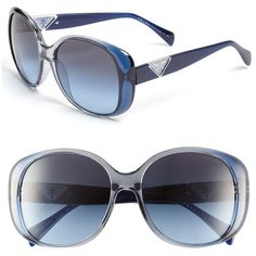 Prada Oversized Sunglasses ($310) ❤ liked on Polyvore